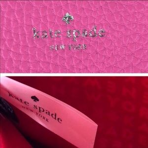 kate spade Bags - Kate Spade ♠️ Pink Pebbled Leather Envelope Clutch